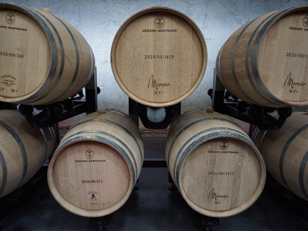French Oak Barrels Full of Rose