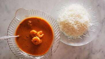 Mum's Red Prawn Curry