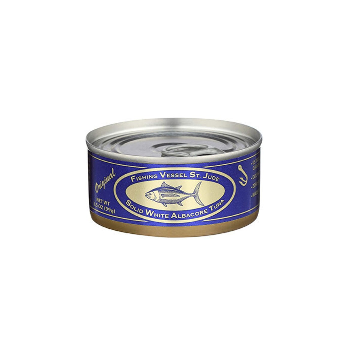 Best Canned Tuna Option_ Fishing Vessel St. Jude Original Solid White Albacore