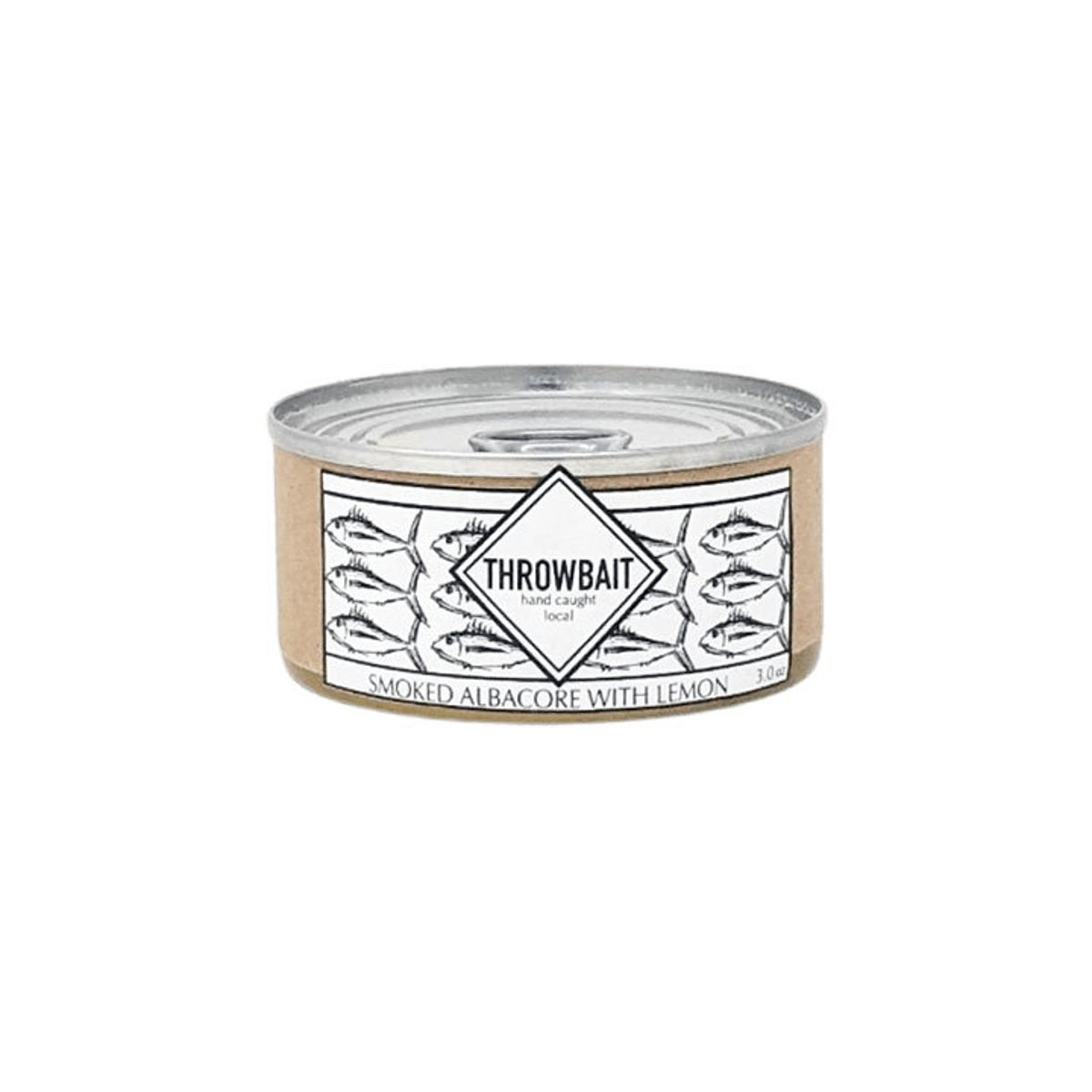 Best Canned Tuna Option_ Throwbait Smoked Albacore with Lemon
