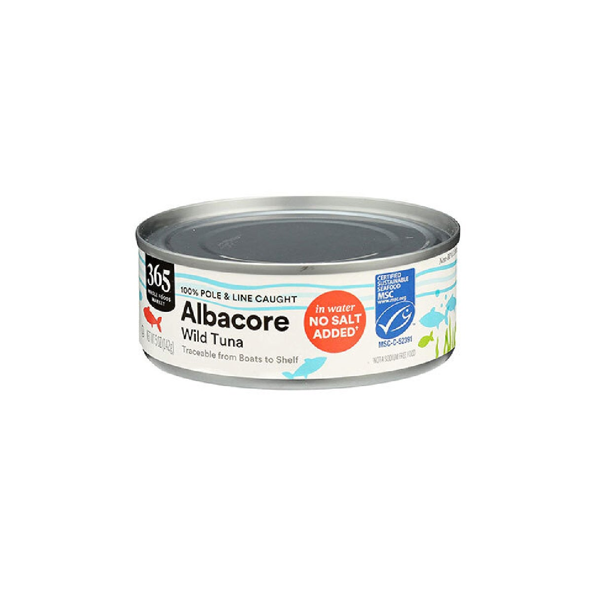 Best Canned Tuna Option_365 by Whole Foods Market Albacore in Water, No Salt Added