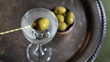 Dirty Vodka Martini from Padma Lakshmi