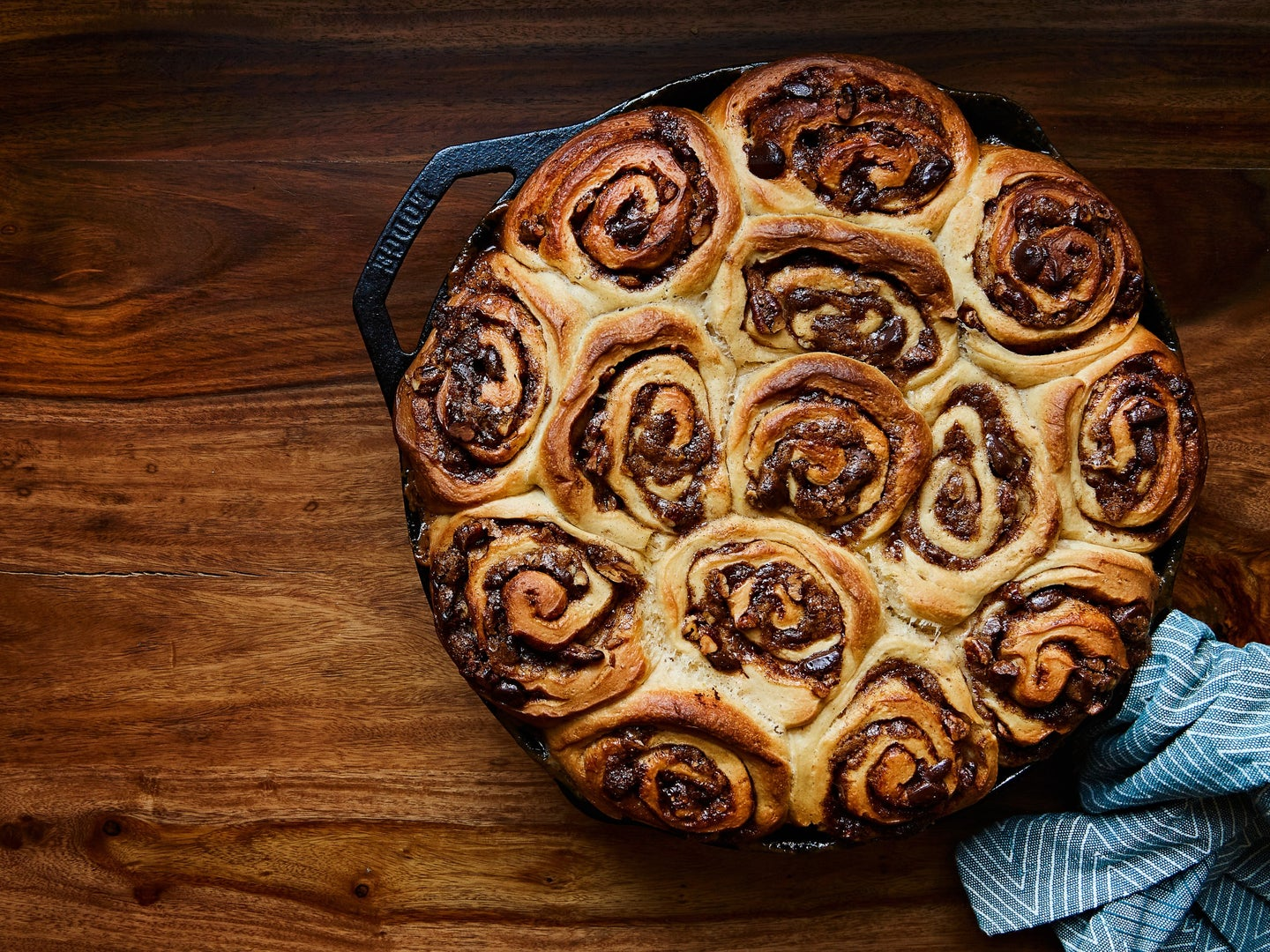 Pecan chocolate sticky buns no-oven method from Bryan Ford