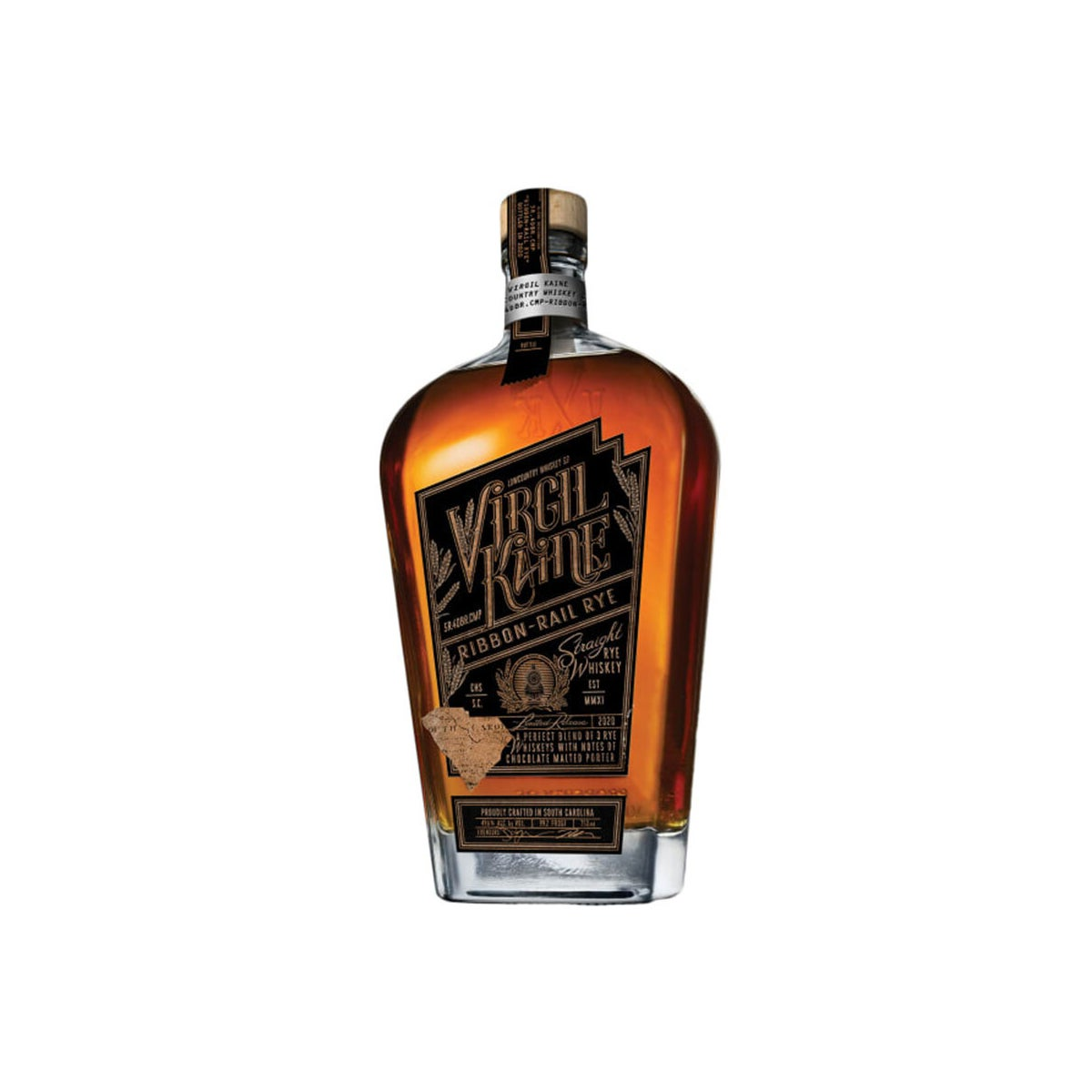 Best Rye Whiskeys Option_ Virgil Kaine Ribbon-Rail Rye