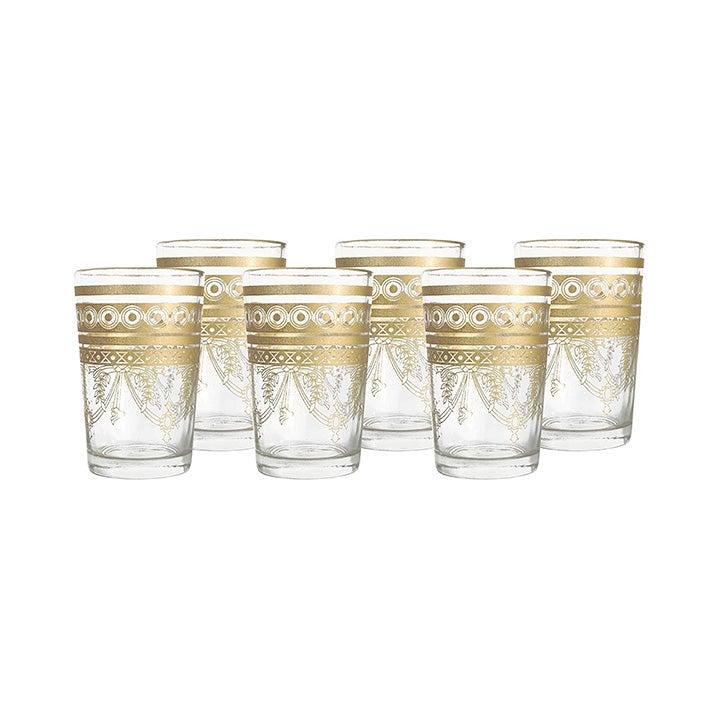 Best Best Champagne Glasses Option: Nomad Treasure's Moroccan Tea Glasses, Set of 6