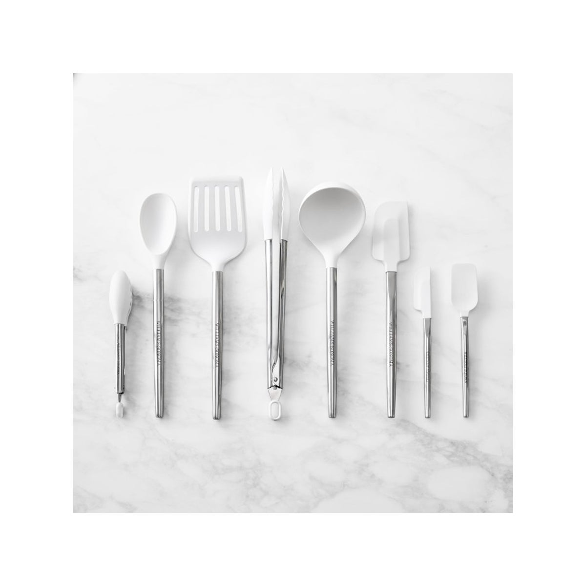 Best Silicone Cooking Utensils Option_ Williams Sonoma Stainless-Steel Silicone Utensils