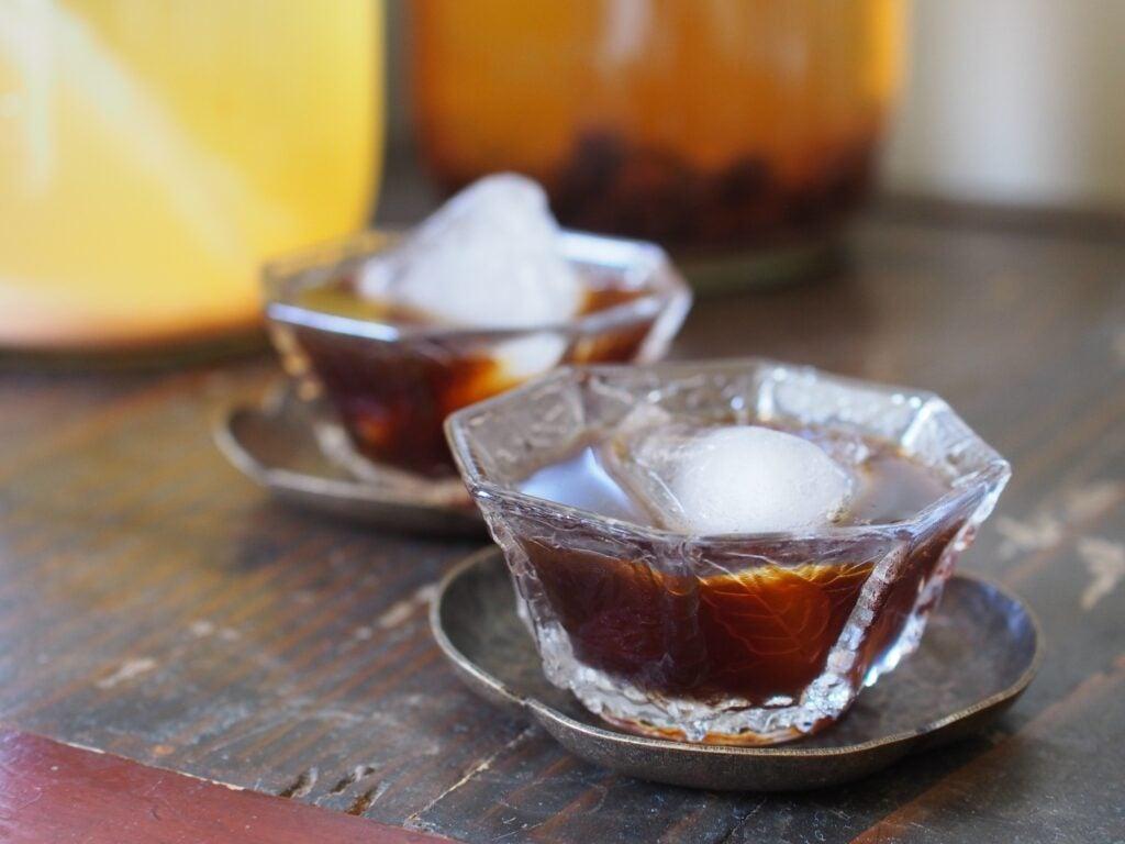 Aged Fruit Vinegar Over Ice