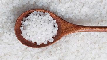 spoon with salt